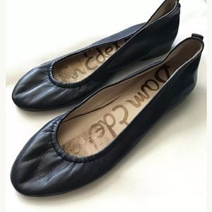Sam Edelman Blue Leather Flats Size 5.5